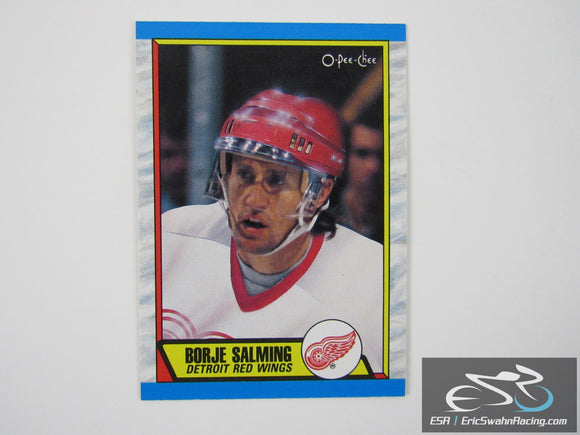 Borje Salming 278 Detroit Red Wings NHL Hockey Card O-Pee-Chee 1989