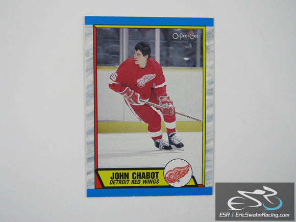 John Chabot 225 Detroit Red Wings NHL Hockey Card O-Pee-Chee 1989