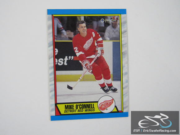 Mike O'Connell 223 Detroit Red Wings NHL Hockey Card O-Pee-Chee 1989