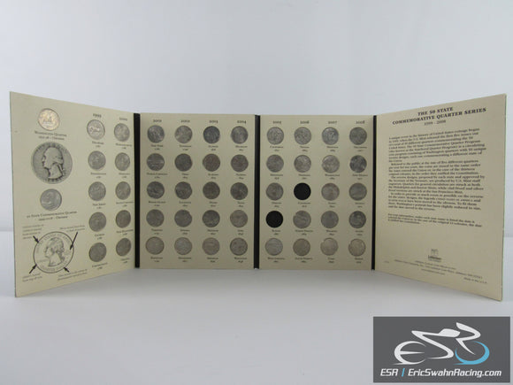 Fifty State Commemorative Quarters (1999-2008) Deluxe Green Coin Folder