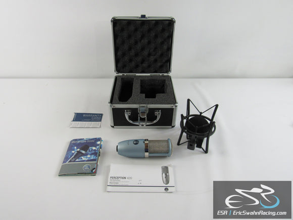 AKG Perception 420 Microphone With Suspension Shock Mount And Hardcase - Lt.Blue