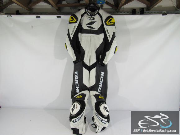 RS Taichi NXL304 GP-WRX R304 Leather Motorcyle One-Piece Race Suit-White-52Euro
