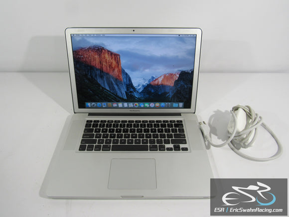 Apple MacBook Pro Intel Core 2D uo 4GB RAM 2.8GHz 15.4