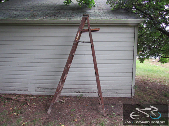 Vintage Wooden Folding Ladder 8ft