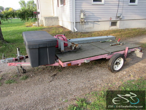 Motorcycle Trailer, Ramps, Gas Can, Trailer Restraint, Storage Box, Trailer Jack