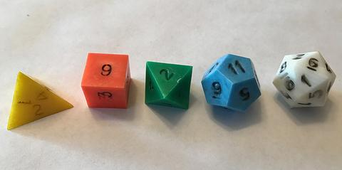 The original Dungeons & Dragons dice set