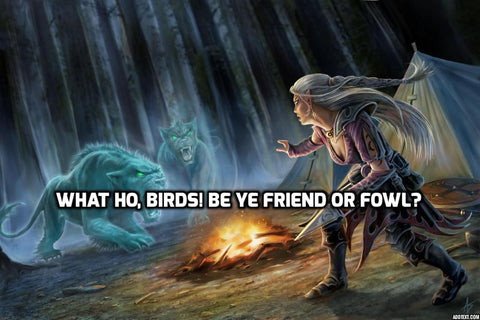 What ho, birds?  Be ye friend or fowl?