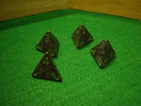 Speckled Earth 4 Sided Dice