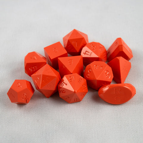 Set of 12 Gamescience Opaque Orange Precision Dice