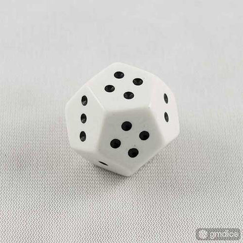 Pipped 12-sided D4 (1, 2, 3, 4) Dice