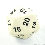 An ivory-colored die of unusually large magnitude.