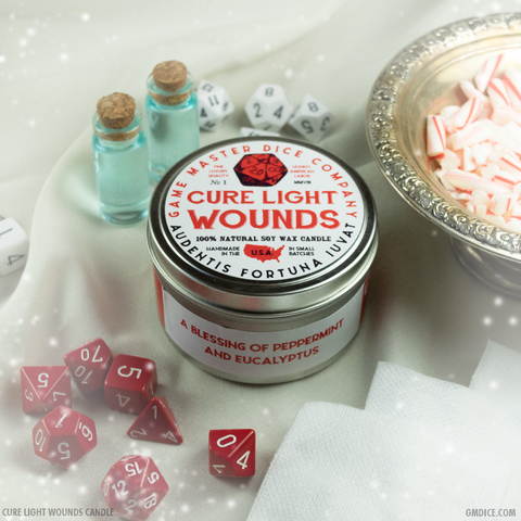 Cure Light Wounds Gaming Candle