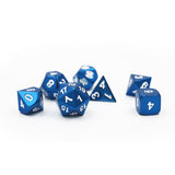 Shiny Blue Metal Dice Set