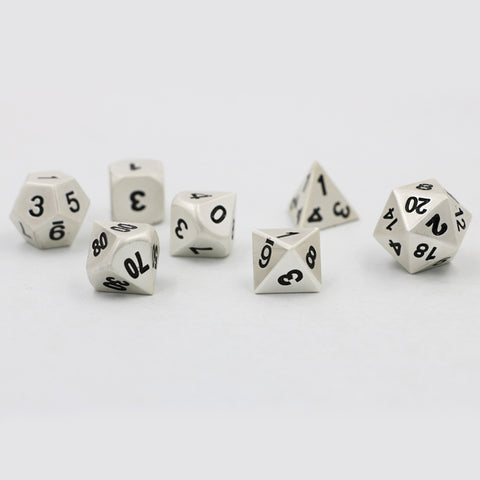 Pearl Silver Metal Dice Set