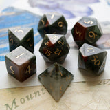 African Bloodstone Dice Set of Courage