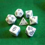 Set of 7 Speckled Arctic Dice