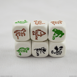 Each face of the six-sided animal species dice