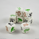 A pile of animal species dice