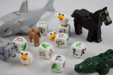 Animal dice with LEGO animals for scale