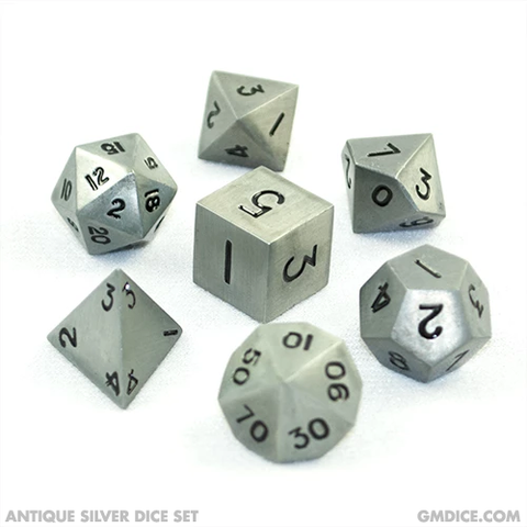 16mm Antique Silver Metal Dice Set