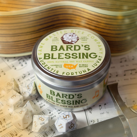 Bard's Blessing Gaming Candle
