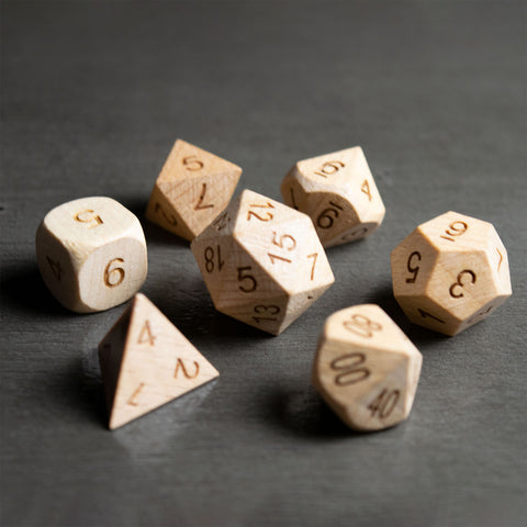 Beech Wooden Dice Set