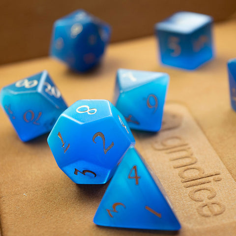 Blue Cat's Eye Dice Set of Spellcraft