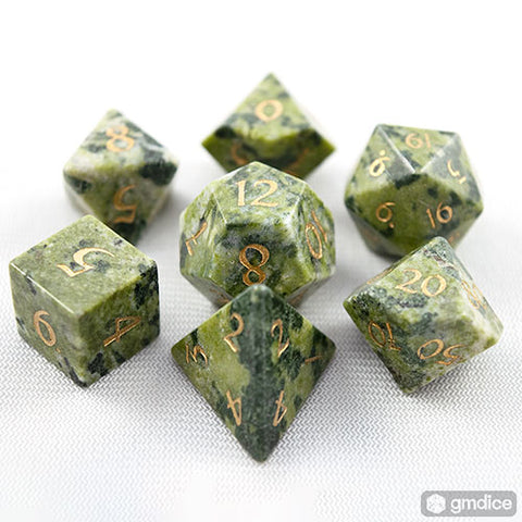 Brazilian Jade Dice Set of Regeneration