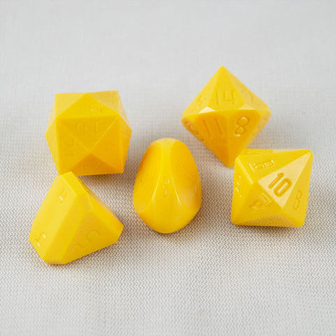 5-Piece Zocchi Originals Gamescience Dice Set (Canary Yellow)
