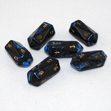 Crystal Shaped Oblivion 10 Sided D10 Dice (Blue)