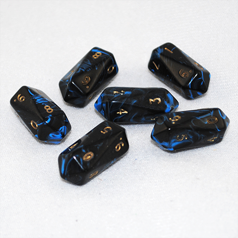 Crystal Shaped Oblivion 10 Sided D10 Dice