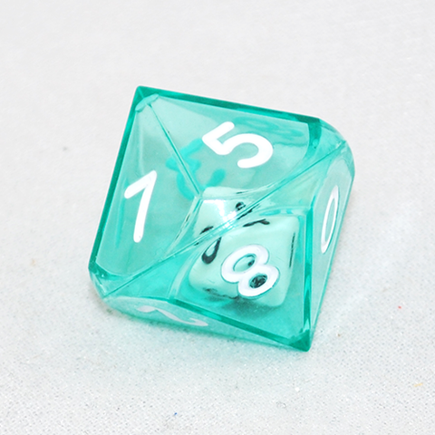 Clear Green Double 10 Sided Dice