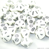 Facial Expressions and Words Dice, 10-Sided