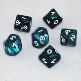 Pearlized Emerald and White 10 Sided Dice