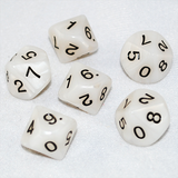 Pearlized Ivory and Black 10 Sided Dice