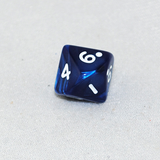 Pearlized Navy and White 10 Sided Dice