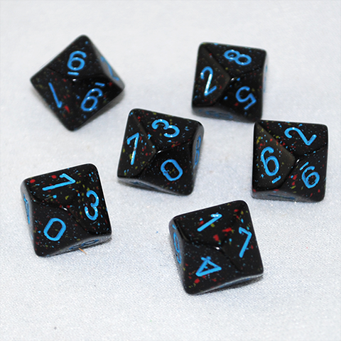 Speckled Blue Stars 10 Sided Dice