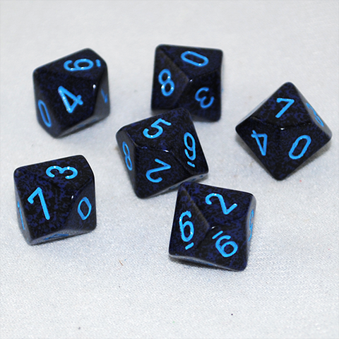 Speckled Cobalt 10 Sided Dice