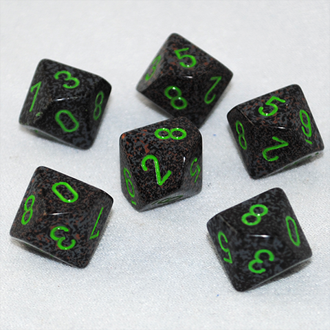 Speckled Earth 10 Sided Dice
