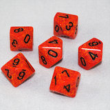 Speckled Fire 10 Sided Dice