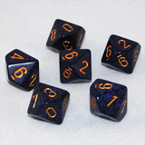 Speckled Golden Cobalt 10 Sided Dice