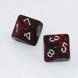 Speckled Silver Volcano 10 Sided Dice