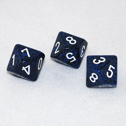 Speckled Stealth 10 Sided Dice