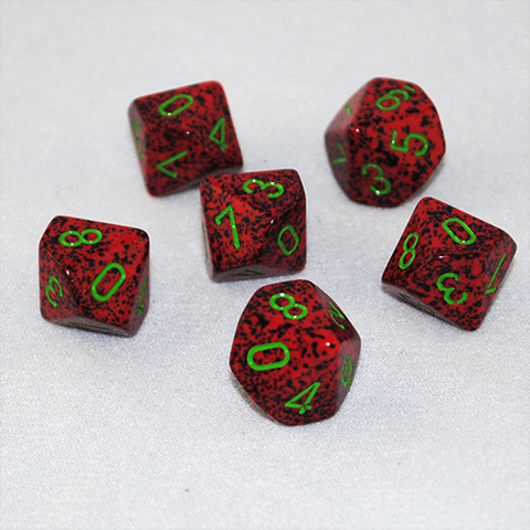 Speckled Strawberry 10 Sided Dice