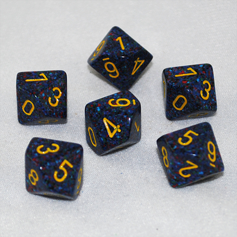 Speckled Twilight 10 Sided Dice