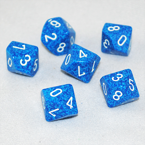 Speckled Water 10 Sided Dice