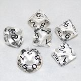 Transparent Clear and Black 10 Sided Dice