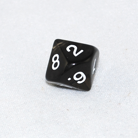 Transparent Smoke and White 10 Sided Dice
