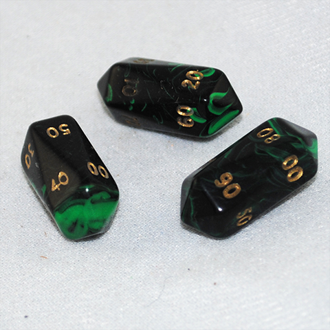 Crystal Oblivion D100 10 Sided Dice