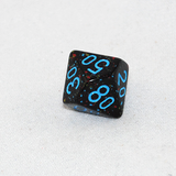 Speckled Blue Stars D100, 10 Sided Dice